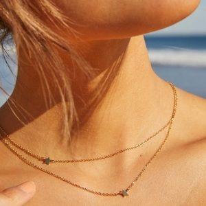 Jennifer Zeuner Star Double Necklace, NWT